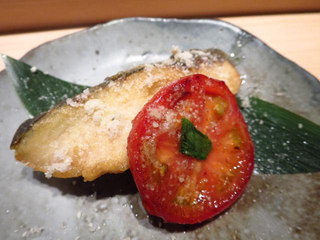 鮨 たくま サワラとアメーラトマト