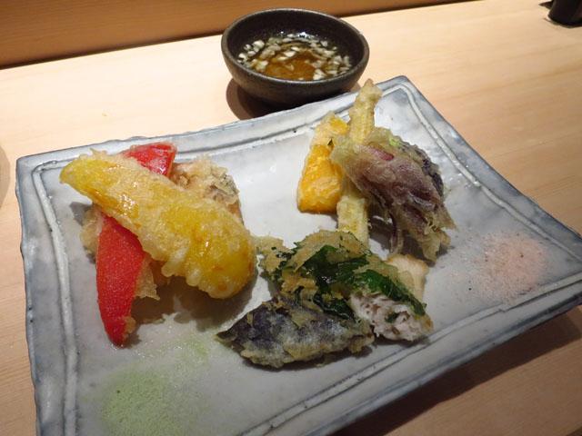 鮨 たくま 天ぷら盛 旬野菜と魚の天ぷら