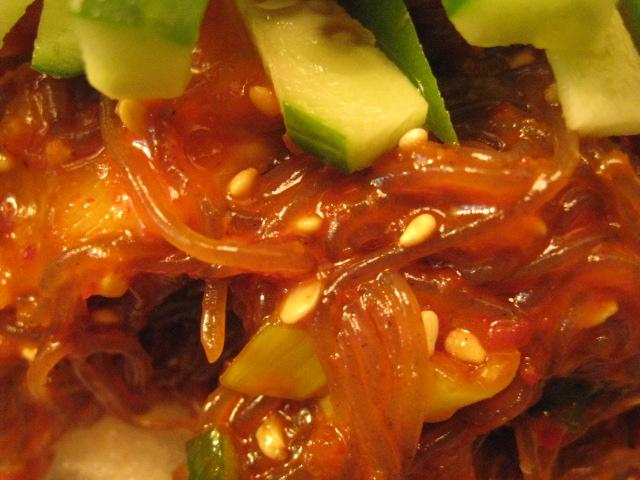ビビン麺(辛め)麺アップ