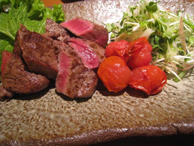 「宮崎牛のステーキ」