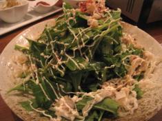 「ミミガー水菜サラダ」