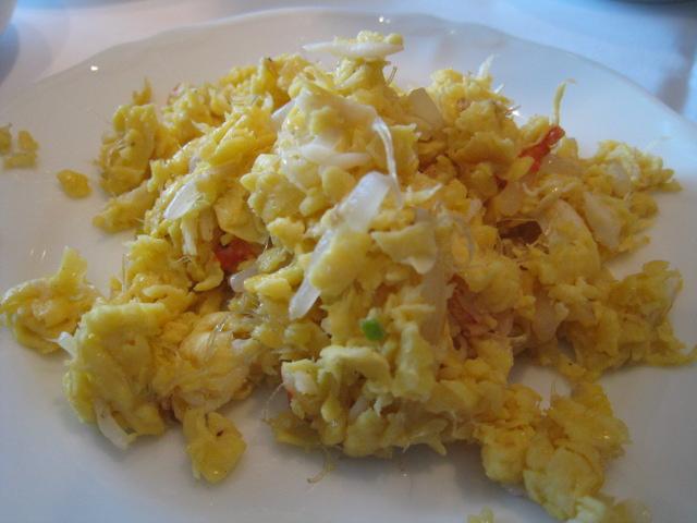 フカヒレと蟹身入り卵の炒め2