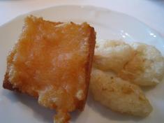 揚げ物おかわり(海老すり身のトースト詰め揚げ、蓮根のさくさく揚げ)