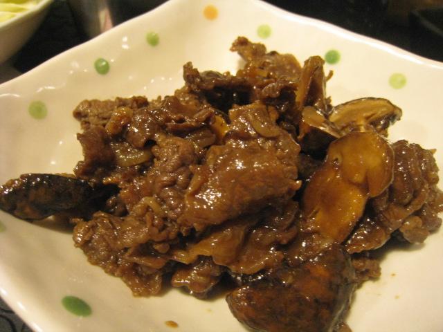 牛肉のしぐれ煮(松茸入)