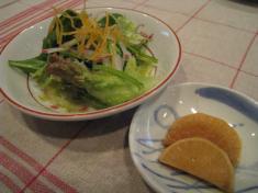 プラムクリーク サラダと漬物