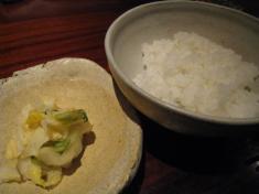 創庵 「ご飯」と「漬物」