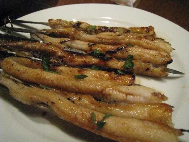 サグラ アナゴの串焼き バルサミコ