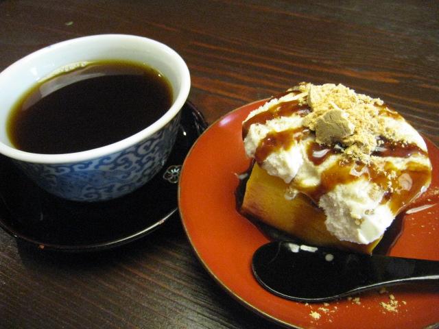はなせ かぼちゃプリンとコーヒー