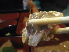 鯖の味噌づけ 箸モチ