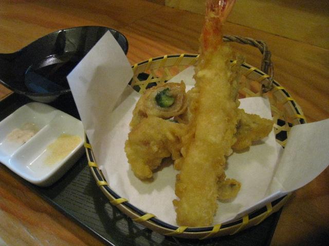 天ぷら魚介4種盛