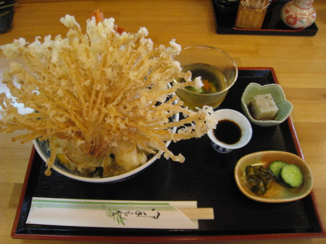 天丼 大盛 野菜1品追加 1000円