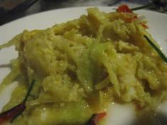 アモック(白身魚のココナッツ&カレー蒸し)皿のせ