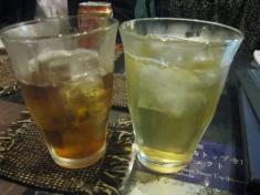ジャスミンティーと烏龍茶