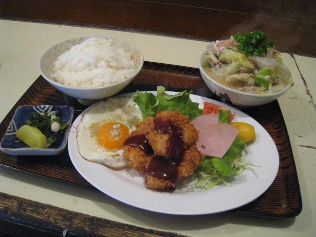 豚汁定食 魚フライ付 720円