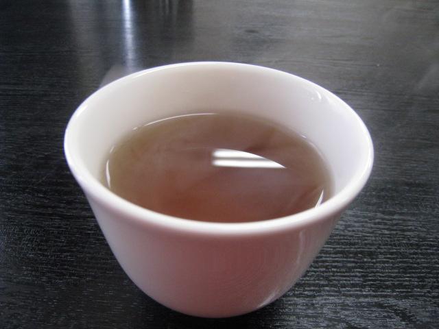 食後に烏龍茶