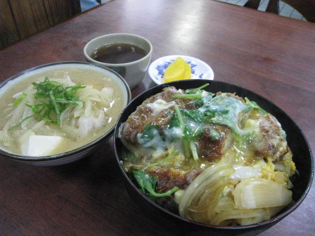 カツ丼&豚汁