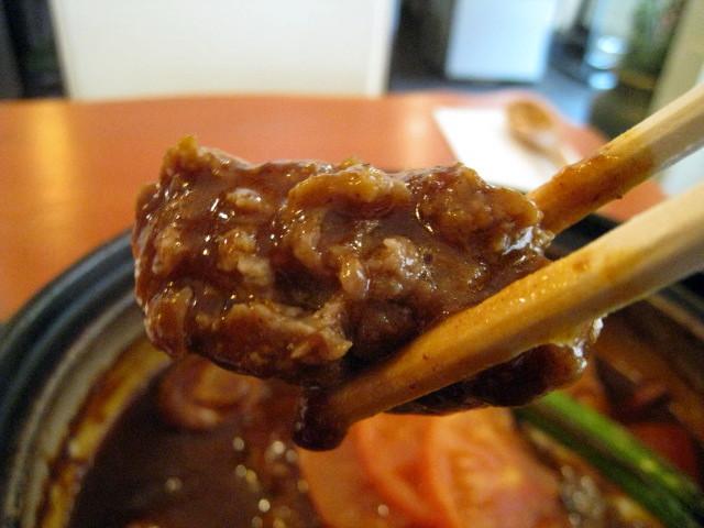 土鍋煮込みハンバーグ お箸もち