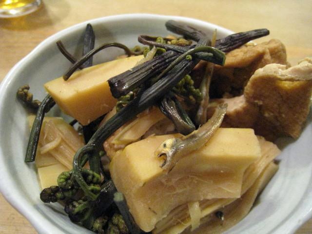 筍とゼンマイと厚揚げの煮物
