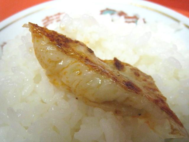 餃子オンザライス