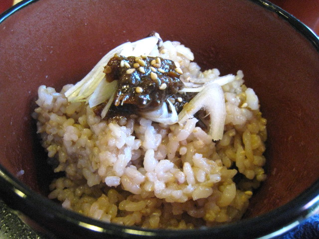 八丁味噌の発芽玄米ご飯