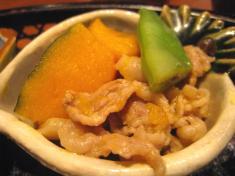 料理6 豚肉と南京の煮物