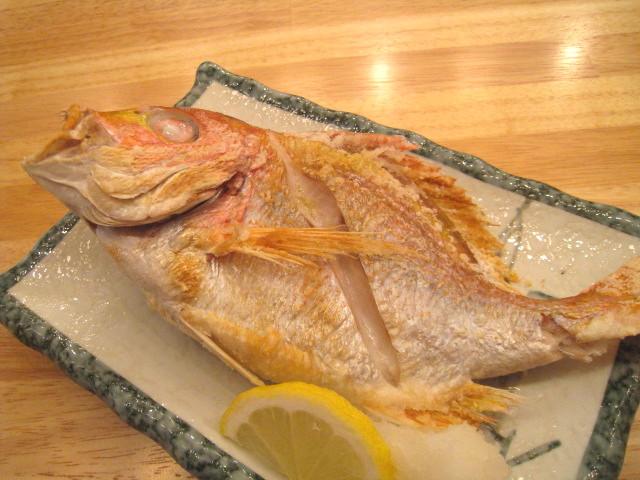 レンコ鯛 塩焼き
