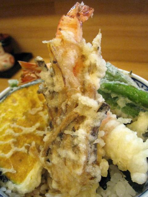 秋の特撰天丼 海老の松茸みの揚げ