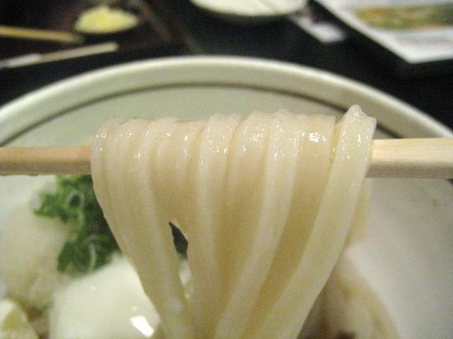 雅次郎 肉温玉ぶっかけうどん 麺お箸もち
