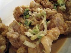 鶏の唐揚げ マヨネーズソース アップ