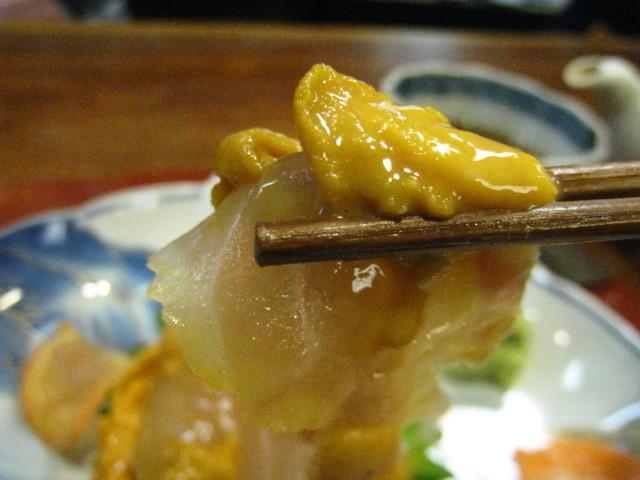 鯛とウニのミルフィーユ お箸もち