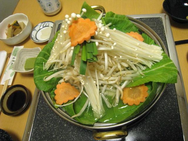 野菜鍋 上から