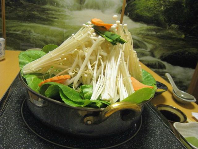 野菜鍋 横から