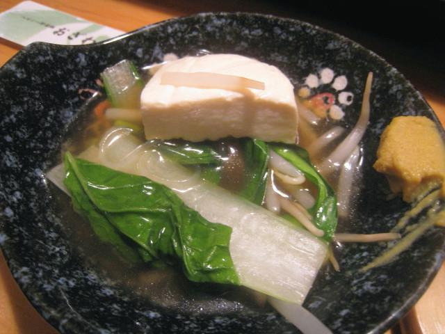 野菜鍋(付けだれに入れて)
