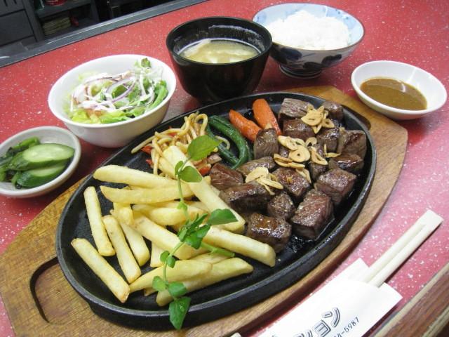 サイコロステーキ定食 1000円