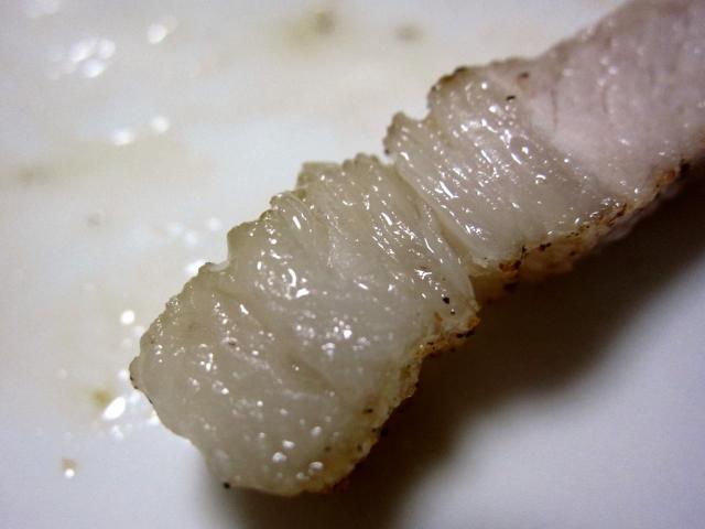 s-プレミアム豚 ロース厚切り 鉄板焼き 小皿のせ 脂アップ