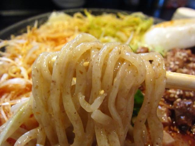 燻製風味の塩冷やし坦々麺 麺あげ
