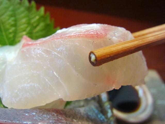 鯛の昆布〆 お箸もち