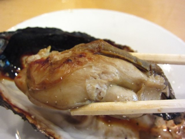 焼き牡蠣 お箸もち