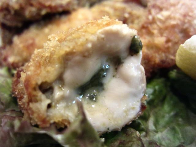 牡蠣フライ 断面