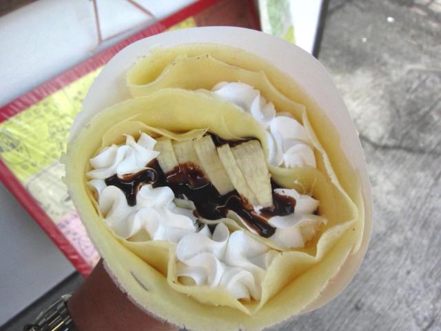 バナナチョコクリーム 上から