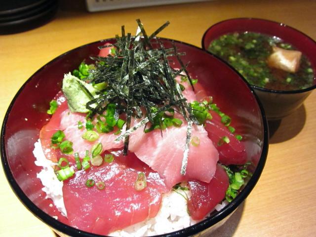 鉄火丼(味噌汁付) 800円