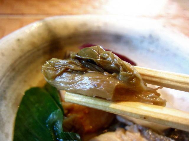 鰆と梅菜の煮込み お箸もち2