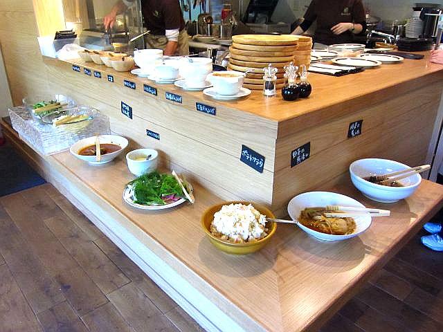 野菜惣菜バイキング陳列台