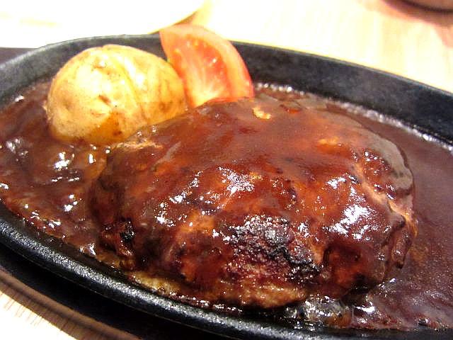 ふっくら鉄板ハンバーグステーキ