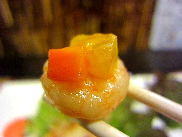 シーフードの甘酢炒め お箸もち3