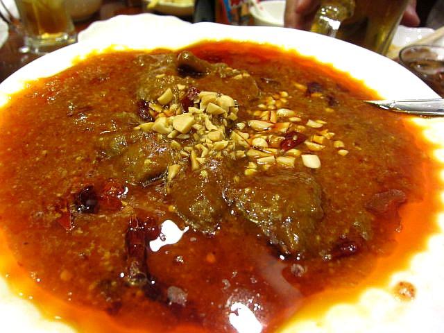 牛肉の四川風煮込み(玉子麺付き) 1100円