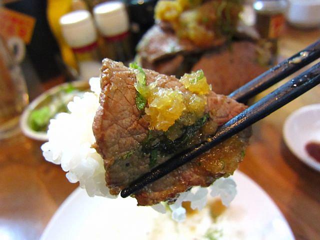 1kg特盛ステーキ丼 ご飯巻き