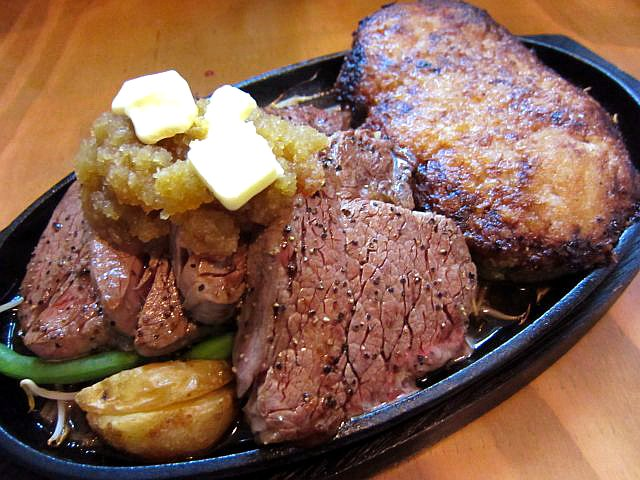 フィレステーキ + やわらかハンバーグ 4900円