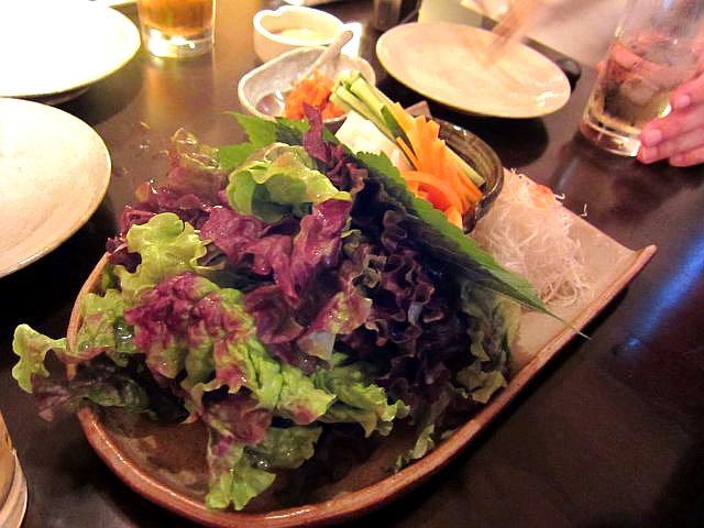 焼ふぐ 巻き野菜