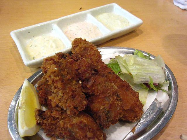 カキフライ 780円